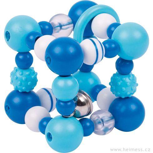 Plastová hračka doruky – modrá krychle - Heimess
