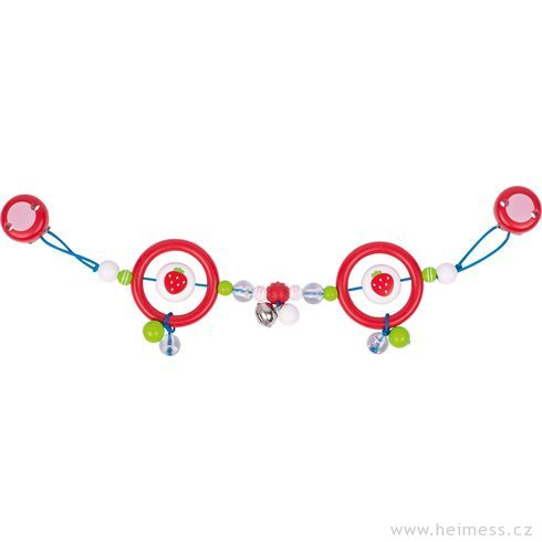 Plastový řetěz dokočárku – jahody - Heimess