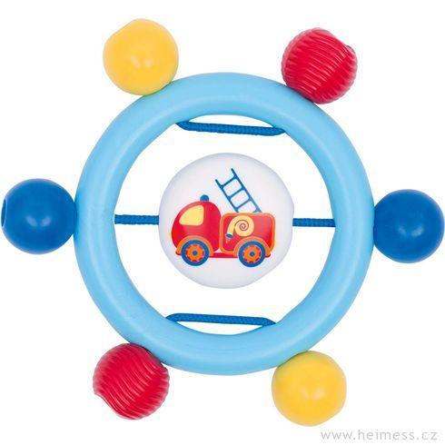 Plastová hračka doruky – kroužek hasiči - Heimess
