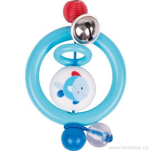 Plastová hračka doruky – kroužek rybka - Heimess