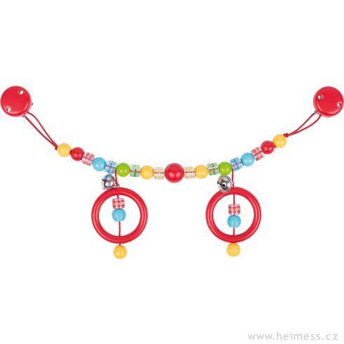 Plastový řetěz dokočárku barevný spuntíky - Heimess