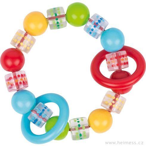 Plastový kroužek doruky barevný spuntíky - Heimess