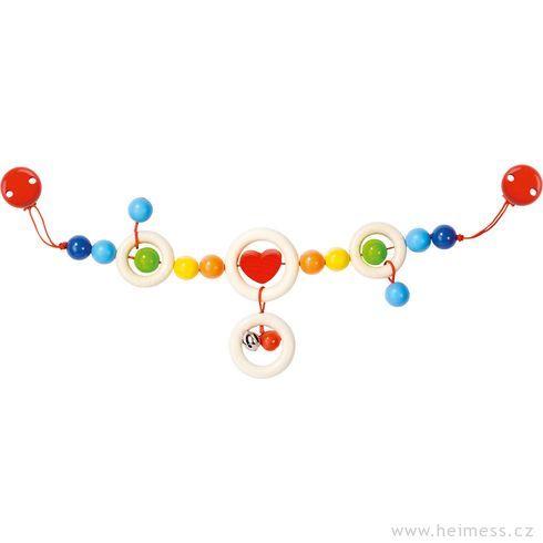 Červené srdíčko srolničkou – řetěz dokočárku - Heimess