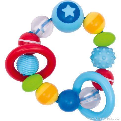 Plastové chrastítko elastický kroužek – hvězdička - Heimess