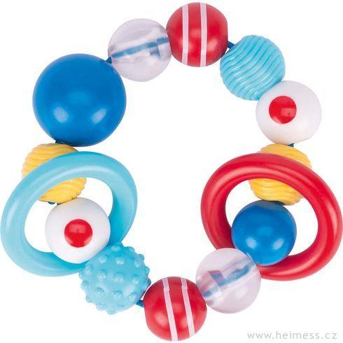 Plastové chrastítko – hmatový kroužek - Heimess