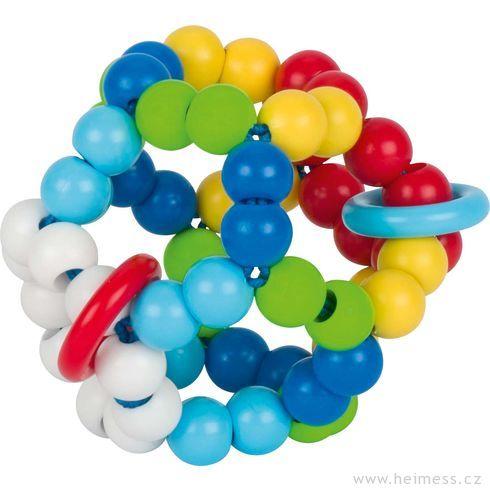 Plastová hračka doruky – duhový míč - Heimess