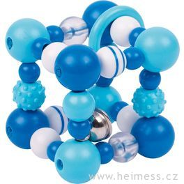 Plastová hračka doruky – modrá krychle