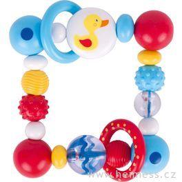 Plastová hračka doruky čtverec – kačenka