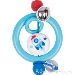 Plastová hračka doruky – kroužek raketa