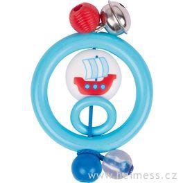 Plastová hračka doruky – kroužek loďka