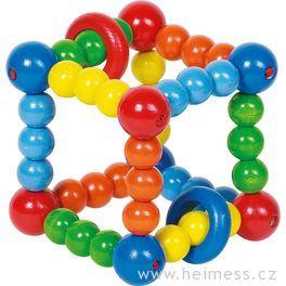 Elastická kostka sdřevěnými kroužky