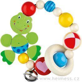Žabka – motorická hračka promiminka, srolničkou