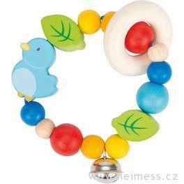 Ptáček – elastická hračka promiminka
