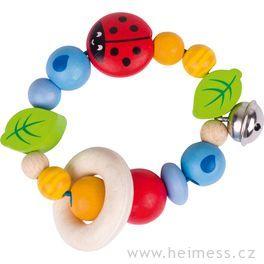 Beruška – dřevěná hračka promiminka (Heimess soft colors)
