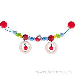Berušky – řetěz dokočárku (Heimess soft colors)