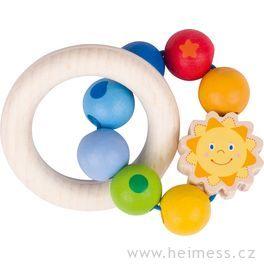 Sluníčko – dřevěná hračka promiminka (Heimess soft colors)
