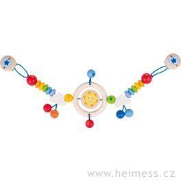 Sluníčko – řetěz dokočárku (Heimess soft colors)