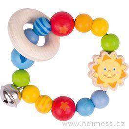 Sluníčko – elastická hračka promiminka zedřeva (Heimess soft colors)