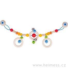 Duha – řetěz dokočárku promiminka (Heimess soft colors)
