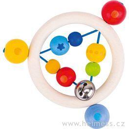 Duha kroužek – dřevěná hračka promiminka (Heimess soft colors)
