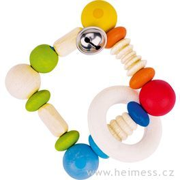 Duha čtverec – elastická hračka promiminka (Heimess soft colors)