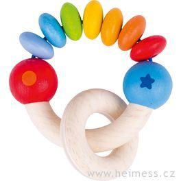 Duha půlkruh – hračka promiminka  (Heimess soft colors)