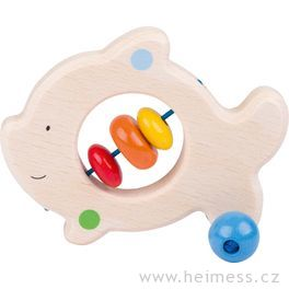 Rybička – dřevěná hračka doruky promiminka