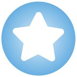Modrá shvězdičkou – zacvakávací korálek, polovina