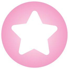 Růžová shvězdičkou – zacvakávací korálek, polovina