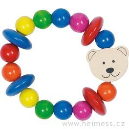 Medvídek – dřevěná hračka doruky