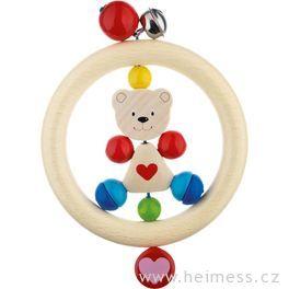 Medvídek sesrdíčkem – motorická hračka promiminka