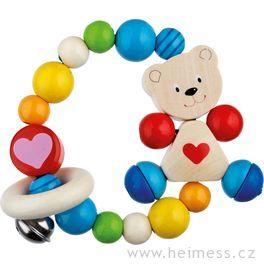 Medvídek sesrdíčkem – elastická motorická hračka