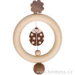 Beruška ačtyřlístek – dřevěný kroužek doruky (Heimess nature)