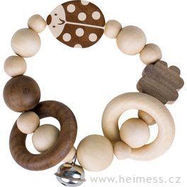 Beruška ačtyřlístek –  elastická hračka srolničkou (Heimess nature)