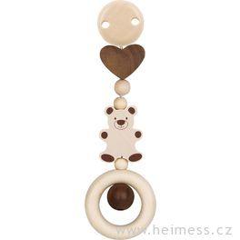 Medvídek avelké srdce – hračka sklipem (Heimess nature)