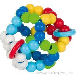 Plastová hračka doruky – duhový míč