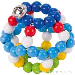 Elastický míč srolničkou, modrý