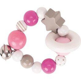 Elastický kroužek růžový srolničkou