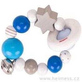 Elastický kroužek modrý srolničkou