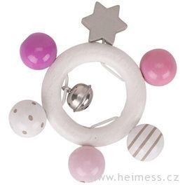 Kroužek hvězdička růžový