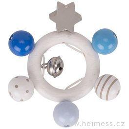 Kroužek hvězdička modrý